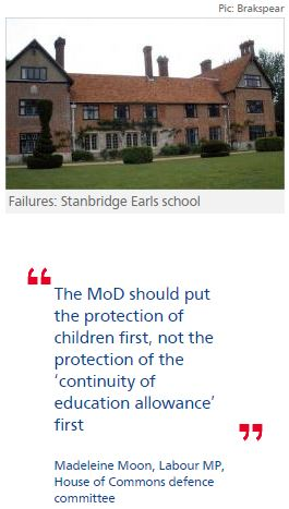 MoD policy on claims of child sex abuse at schools 'stuns' MPs