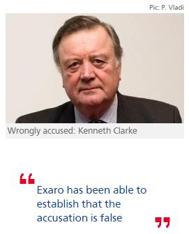Kenneth Clarke wrongly accused of indecently assaulting boy