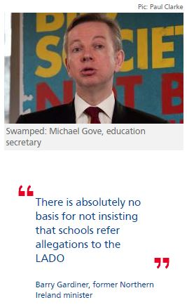 Michael Gove blocks move to force schools to report sex abuse