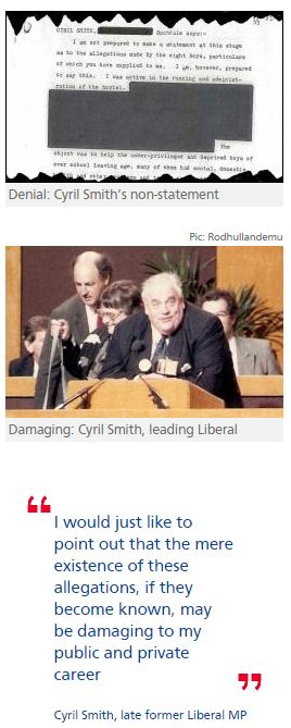 Revealed: how Cyril Smith denied paedophile claims to police
