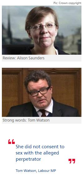 Tom Watson asks DPP to review rape claim against ex-minister