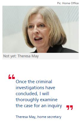 Theresa May delays decision on call by 141 MPs for CSA inquiry