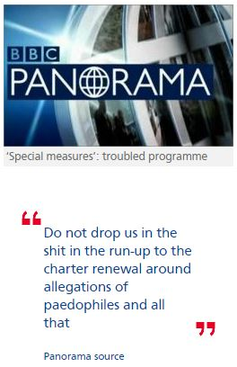 BBC at war over Panorama on claims of VIP paedophile network