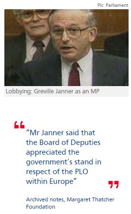 Revealed: how Lord Janner lobbied for Israel as backbench MP