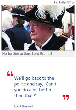Lord Bramall demands apology from police over investigation