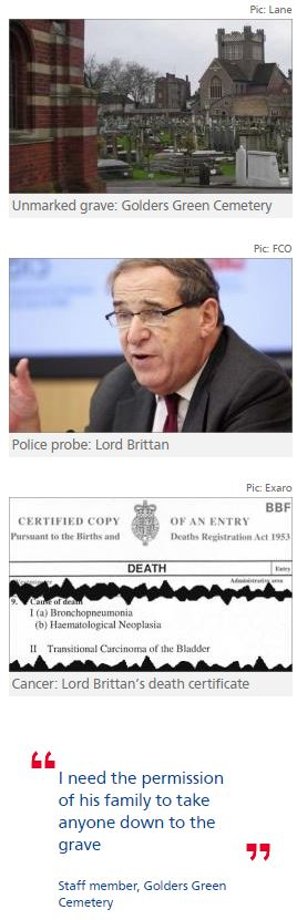 Leon Brittan buried in unmarked grave in 'very private funeral'